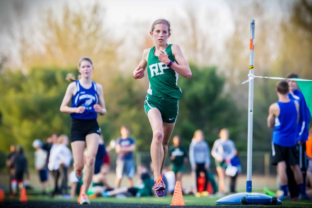 Reeths-Puffer's Maryssa Depies leads the way for one of her four first place finishes. Photo/Tim Reilly
