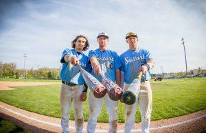 Three-sport stars (left to right) Elijah Wilson, Hunter Broersma and Tyler Trovinger are having a great baseball season for Mona Shores. Photo/Tim Reilly