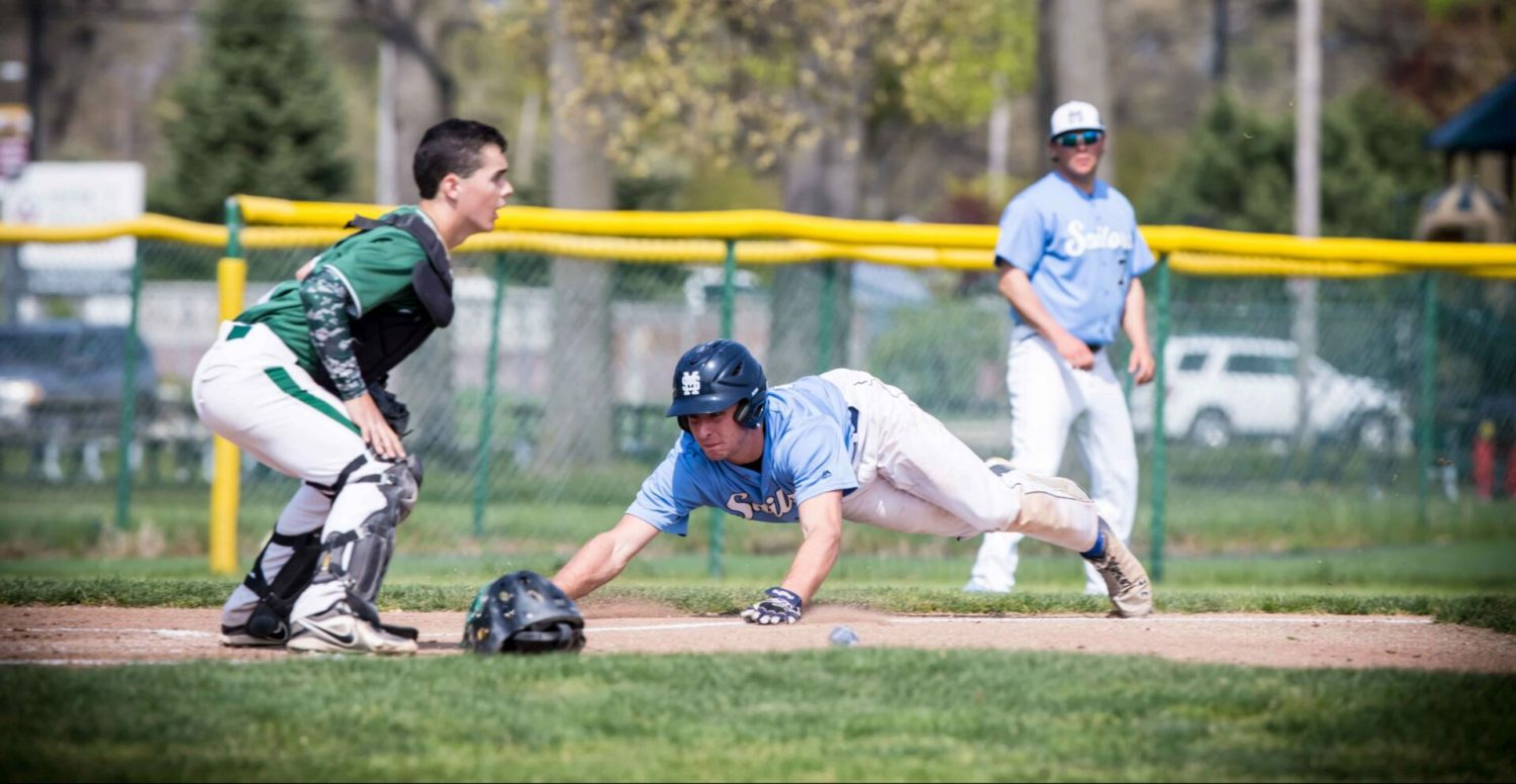 Flowers' pitching allows Mona Shores to grab fifth straight city baseball title