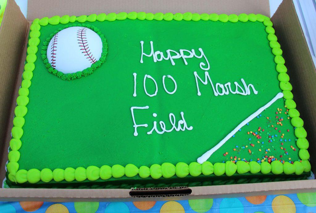 Marsh Fields 100th birthday cake. Photo/Marc Hoeksema
