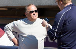 Tigers General Manager Al Avila meets the media at Fifth Third Ballpark. Photo/Kevin Sielaff, LSJ