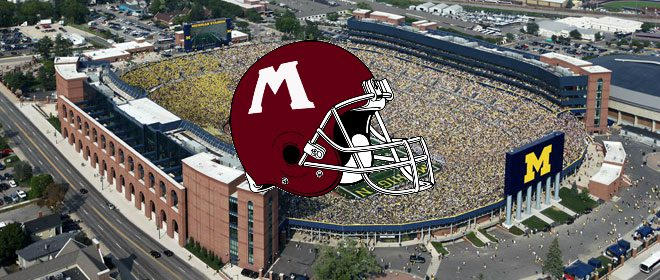 Muskegon Big Reds will open their 2016 football season at Michigan Stadium