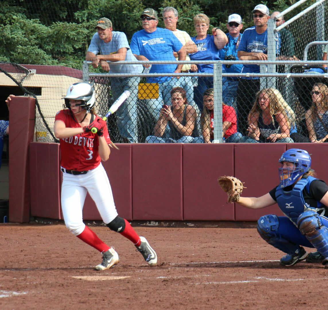 Holton's Mikaela Baker gets read to swing at a pitch. Photo/Dave Hart