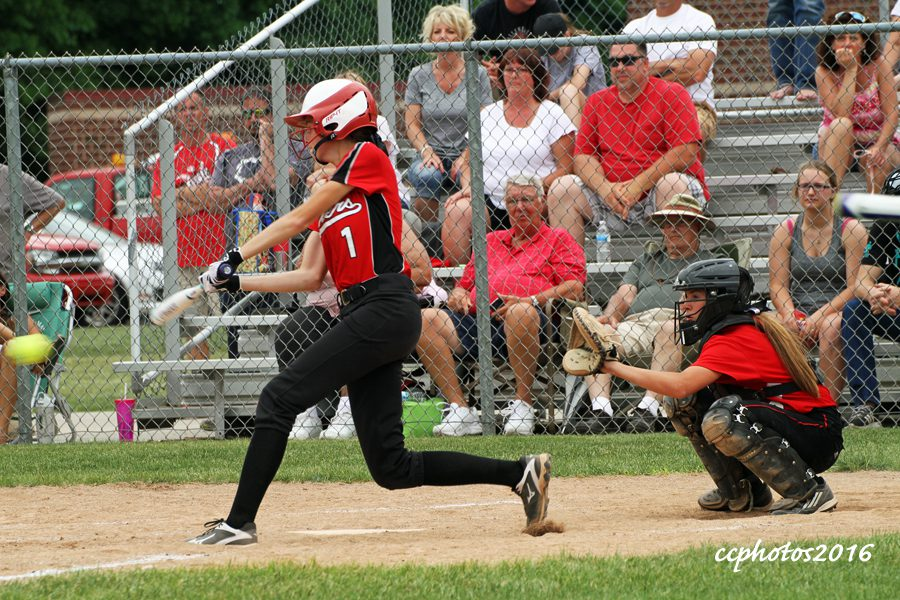 Jenna Core gets the hit for Spring Lake. Photo/Carol Cooper