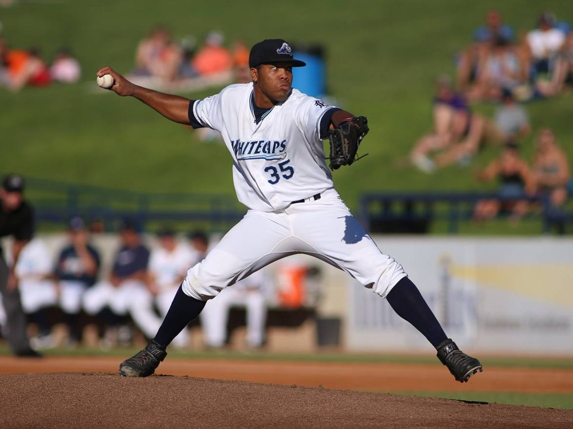 Sandy Baez delivers the pitch for the Whitecaps. Photo/Tom Reynolds