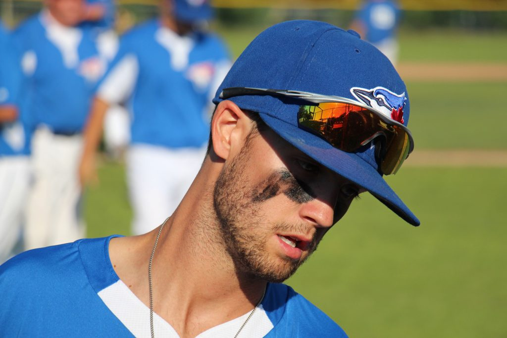 Connor Seymour., who plays for the first-place Blue Jays, is a former Muskegon Clipper. Photo/Jason Goorman.