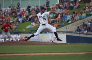 Fernando Perez delivers the pitch for the Whitecaps. Photo/Tom Reynolds
