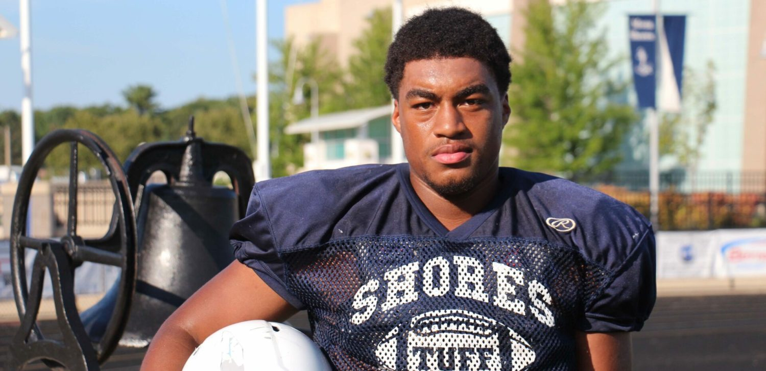 Mona Shores' Marcus Collins looks ready to roll as the new featured back