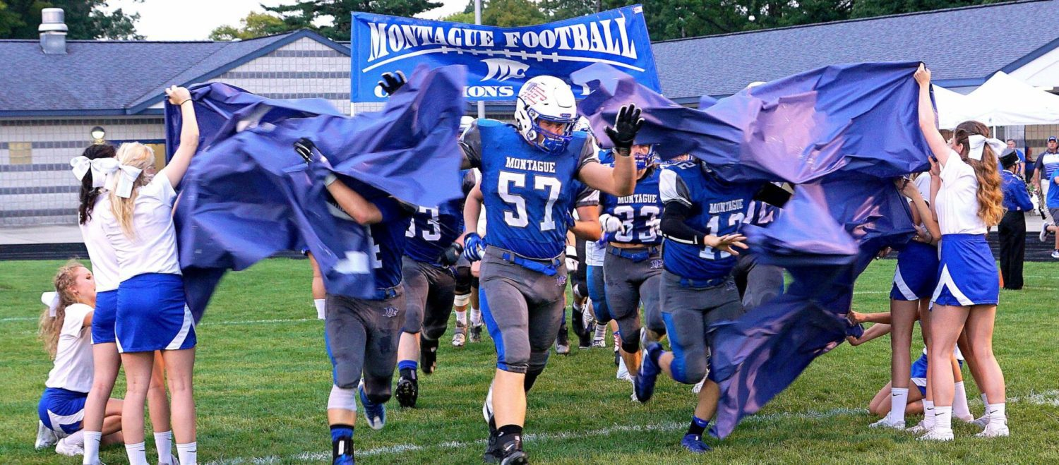 Montague beats Mason County 34-0 in another game that ended early