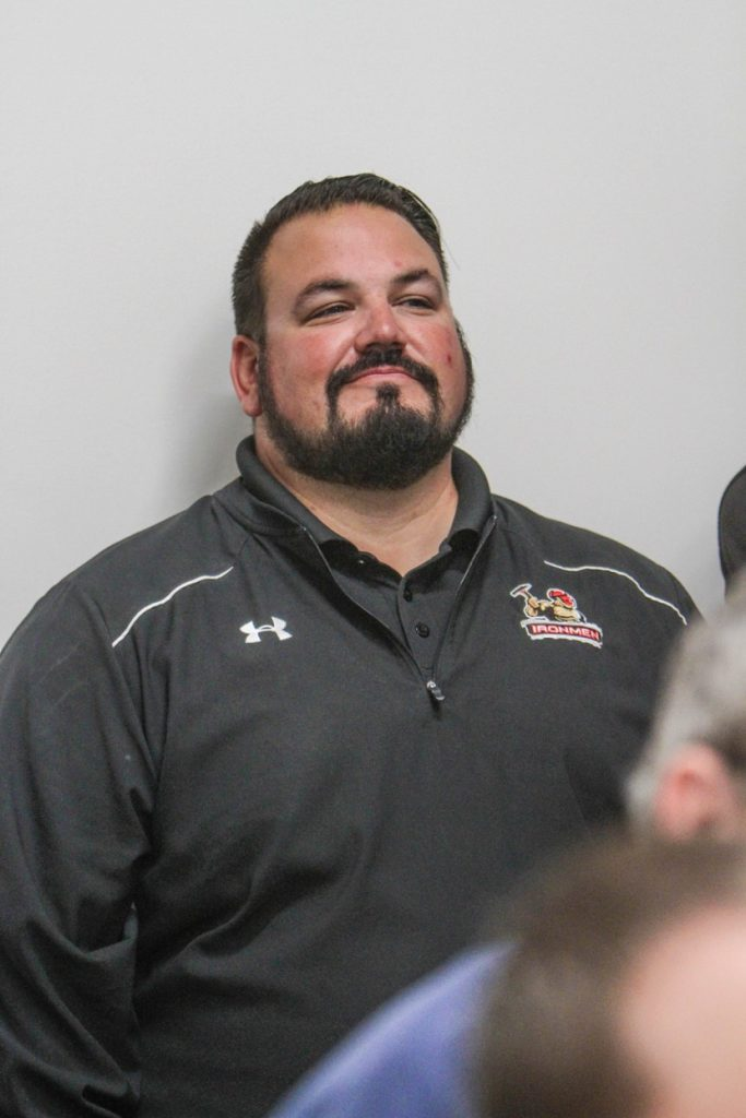 West Michigan Ironmen General Manager, Nate Smith listens in during Monday's press conference. Photo/Joe Lane
