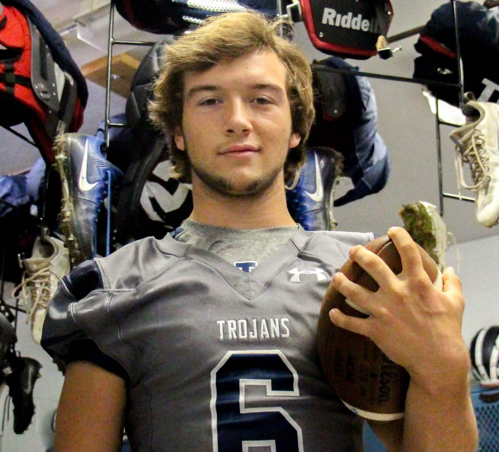 Levi Six is having a standout season as the featured back for Fruitport. Photo/Jason Goorman