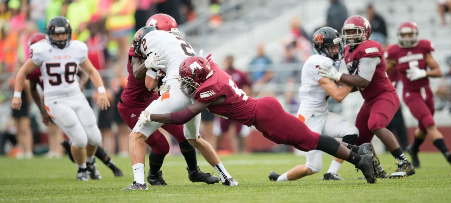 Big Reds start out slow, then plow past visiting Byron Center 49-14