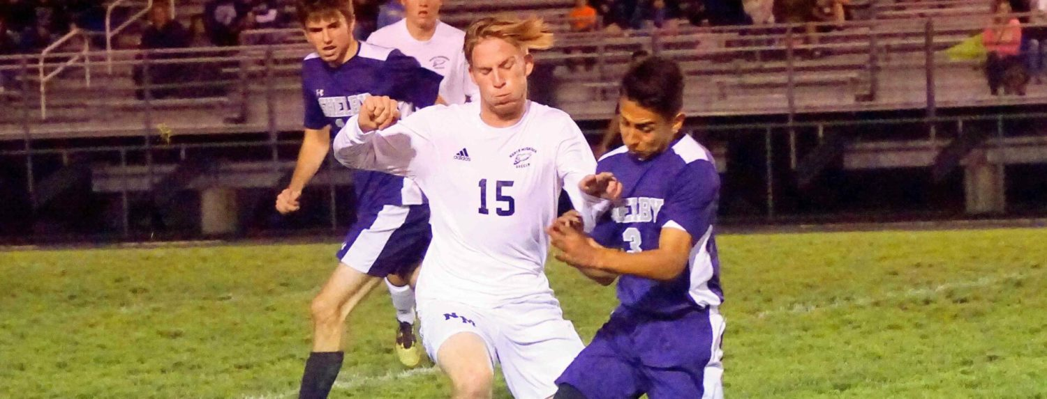 Shelby soccer team hands Norse first loss, gains a share of conference title