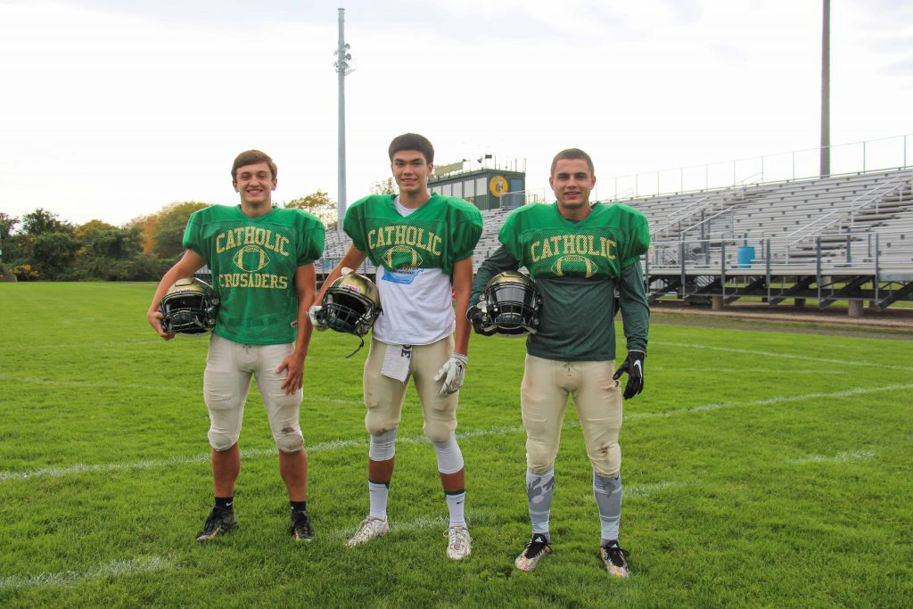 MCC defensive standouts (from left) Andrew Schulte, Jacob Martinez and Walker Christoffersen. Photo/Jason Goorman