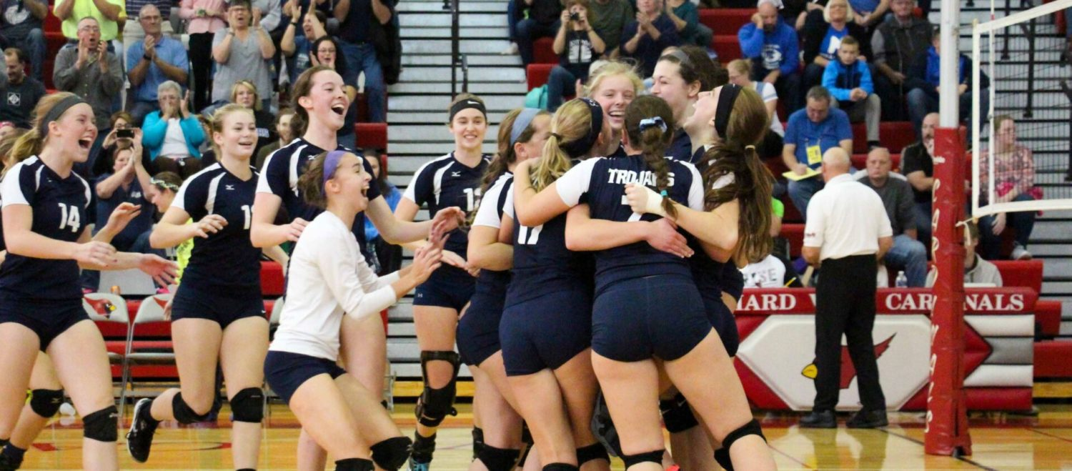 Fruitport downs Montague and Emma Flagstead to claim Class B district volleyball crown