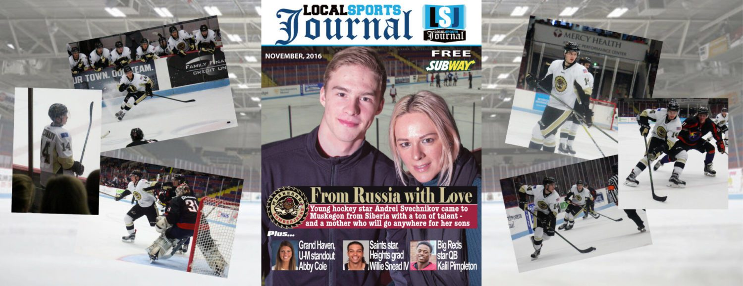 Young Russian hockey star Andrei Svechnikov – and his mother – are loving their stay in Muskegon