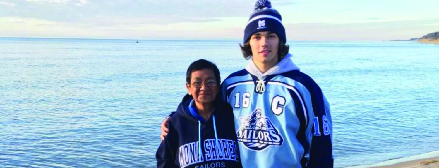 A grandmother's mission is accomplished; a grateful young athlete says goodbye