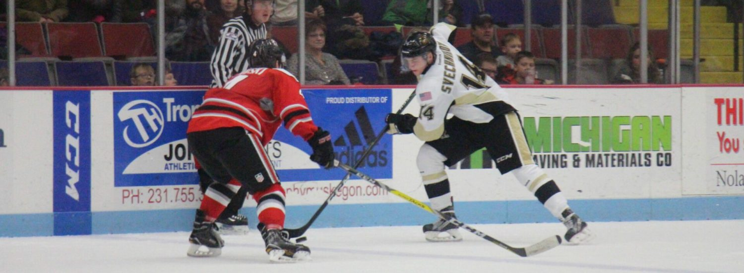 Lumberjacks fight back from two-goal deficit, but lose game in overtime