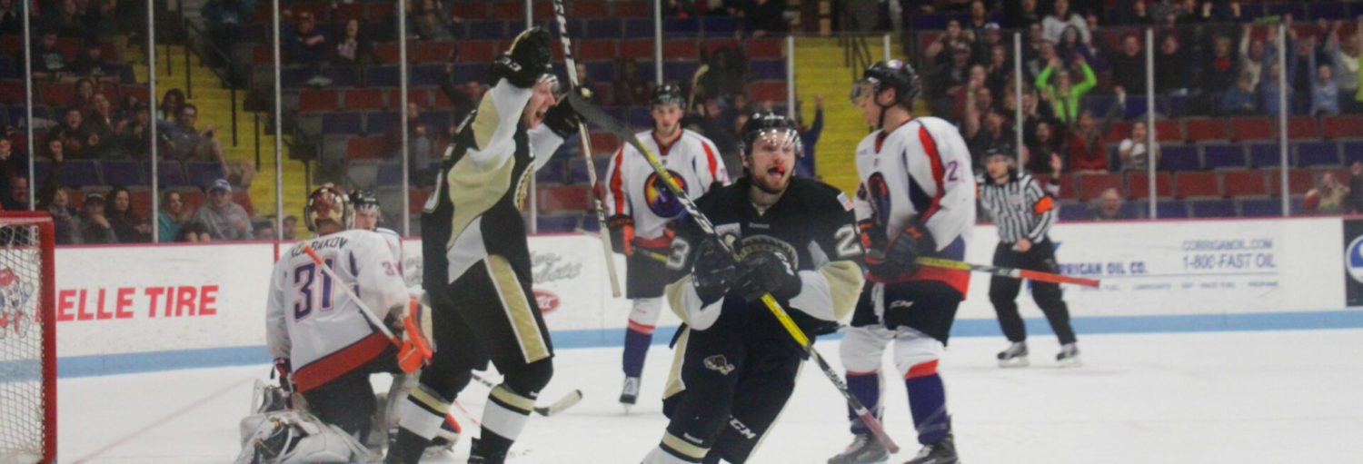 New Lumberjack Austin Alger's late goal gives Muskegon a 2-1 win over Youngstown