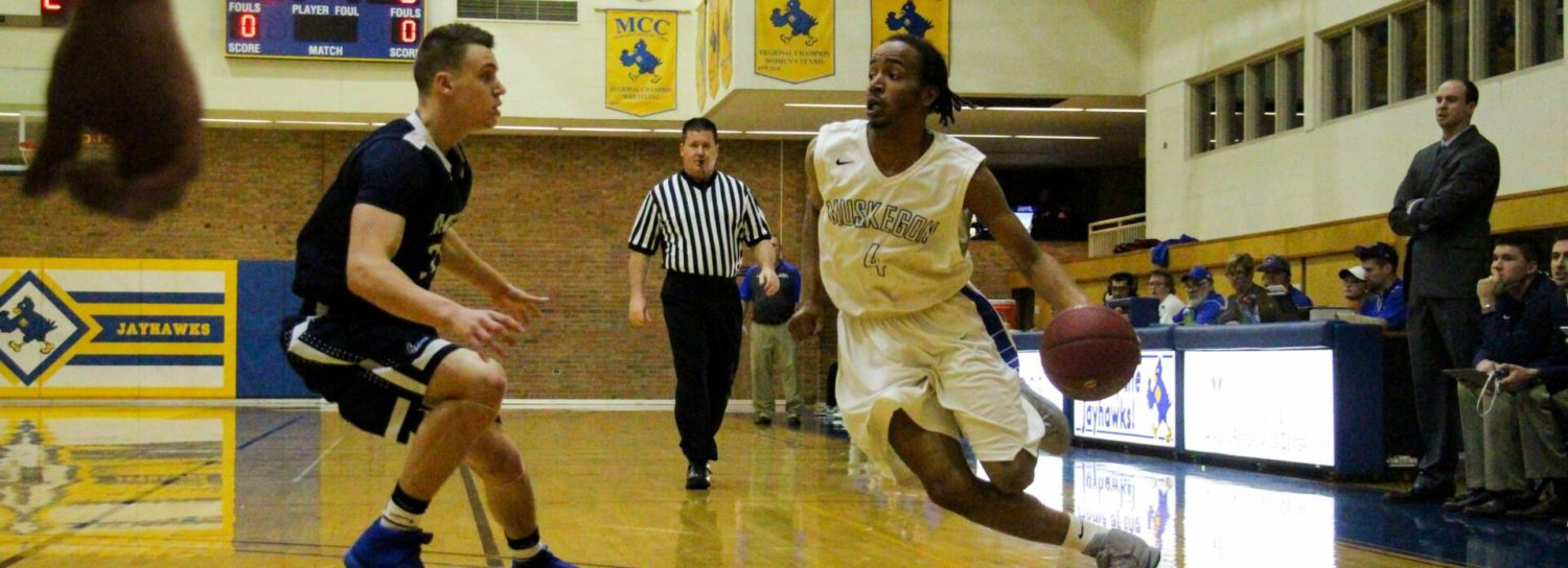 First-place Muskegon Community College men fight off challenge, win 83-69