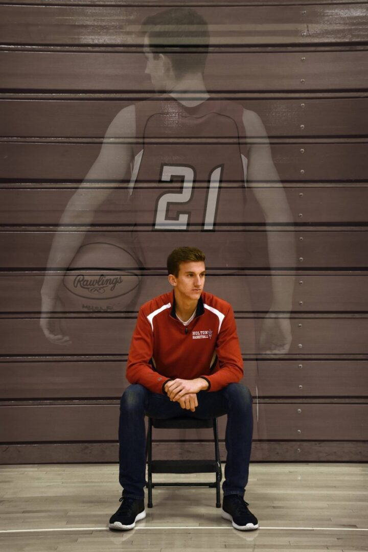 Senior Kevin Slowik is a driving force behind Holton's improvement on the court