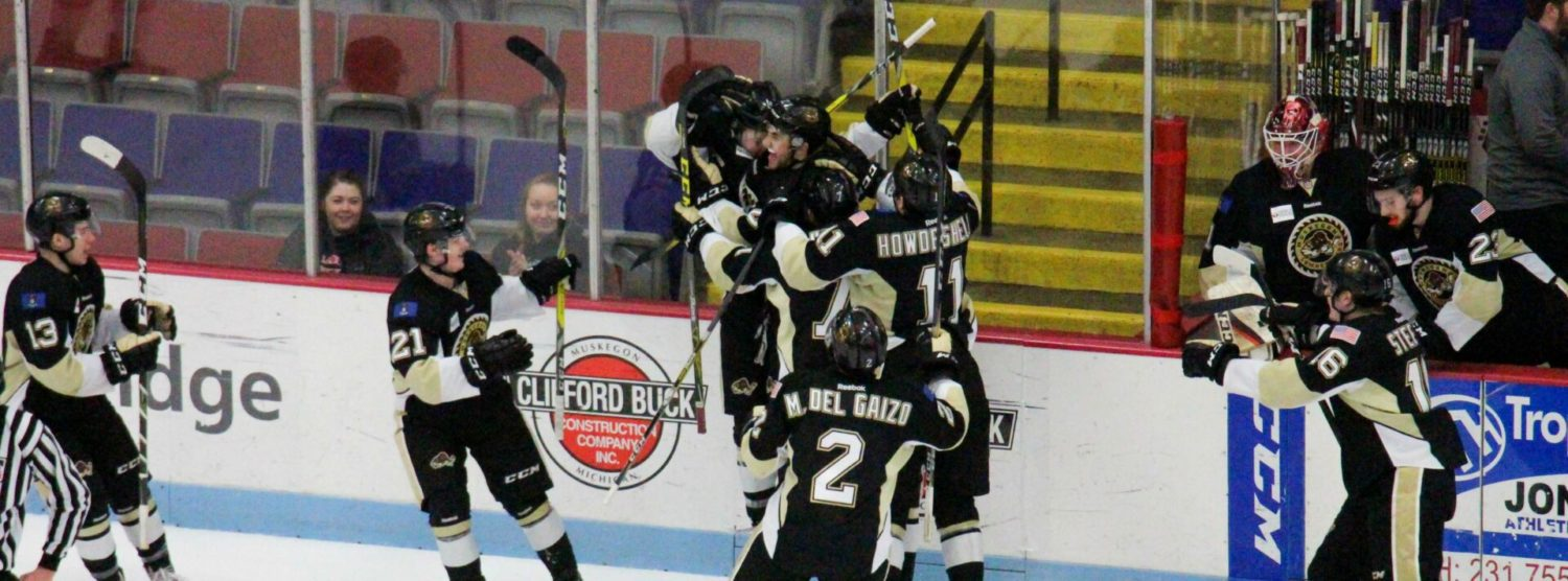 Berzolla's OT goal gives Lumberjacks a 2-1 come-from-behind win over Bloomington