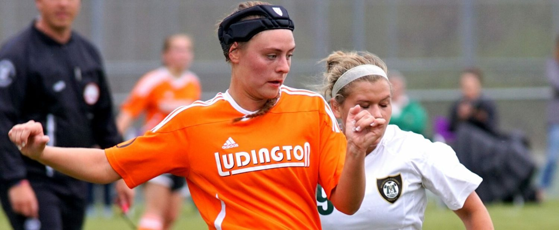 Short-handed Ludington girls soccer team beats MCC in a key league game, 4-2