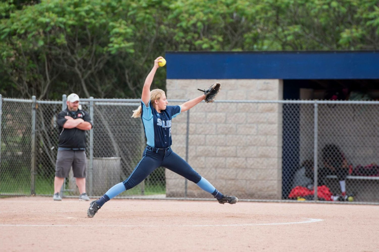Powerful offense and pitching propel Mona Shores softball to pre-district win