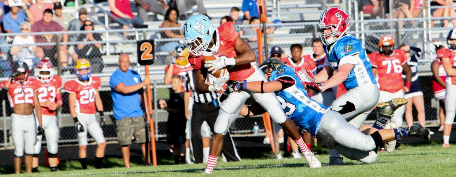 A losing streak ends, local prep stars shine for the last time in the Muskegon All-Star Classic football game