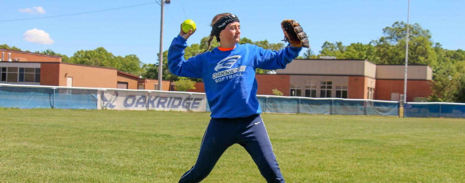 A severe head injury from a softball accident can't keep Holly Wydeck off the field