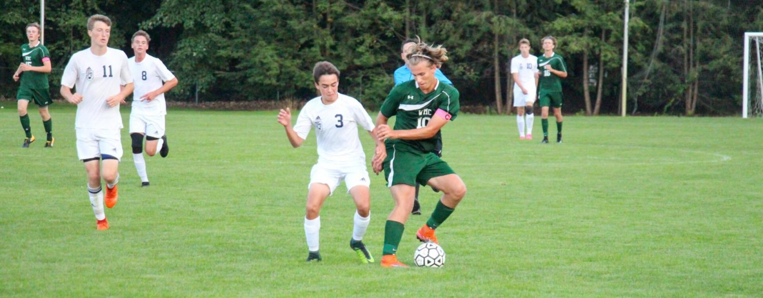 Evan Fles' three-goal explosion leads WMC to a 6-2 soccer victory over Fruitport