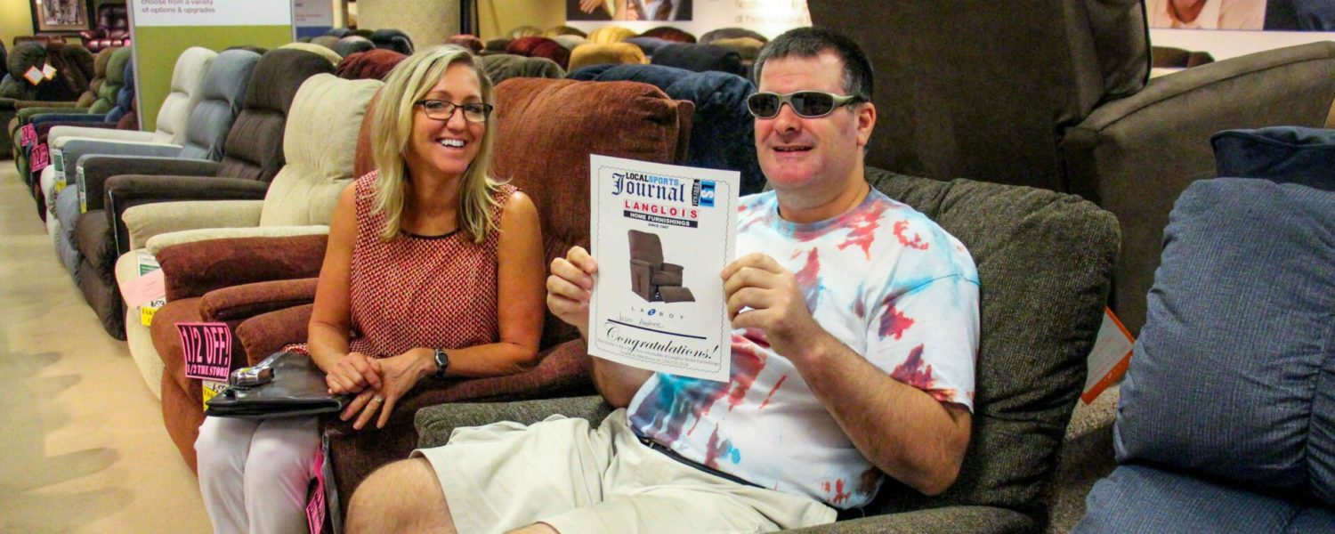 Nice ending: LSJ party ticket holder gets his free recliner, thanks to folks at Langlois