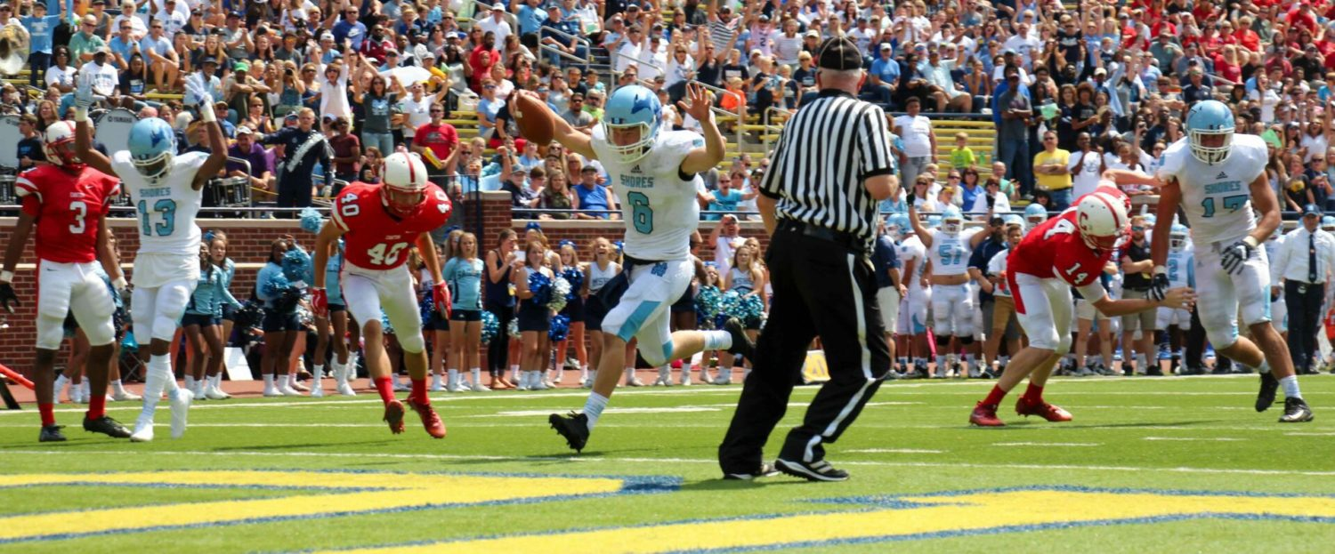Mona Shores showcases talent at the Big House with a 41-23 whipping of Canton