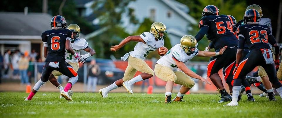 Crusaders easily beat back conference challenge from Muskegon Heights with a 32-0 win