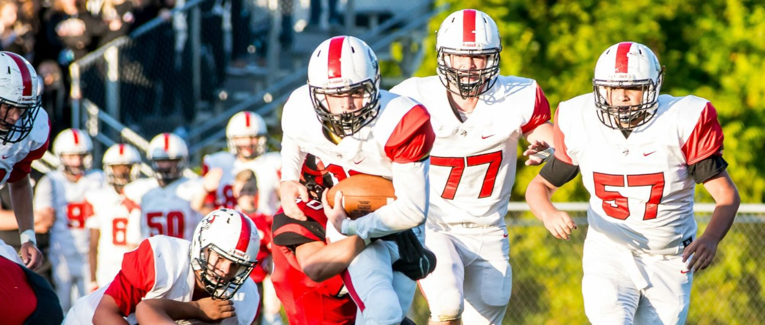 Whitehall rolls past Hart with combination of ground and air attack