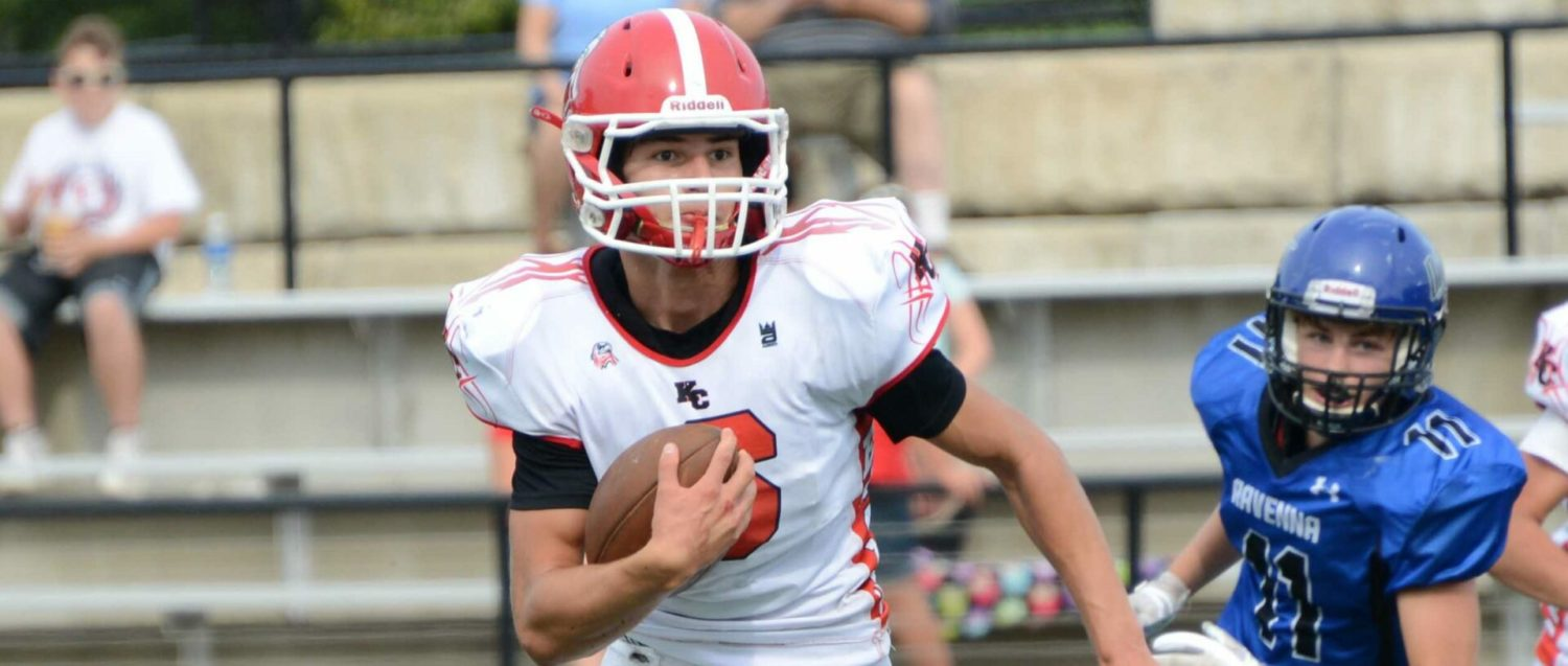 Hard-running Gio Weeks, Kent City football team in pursuit of a perfect season