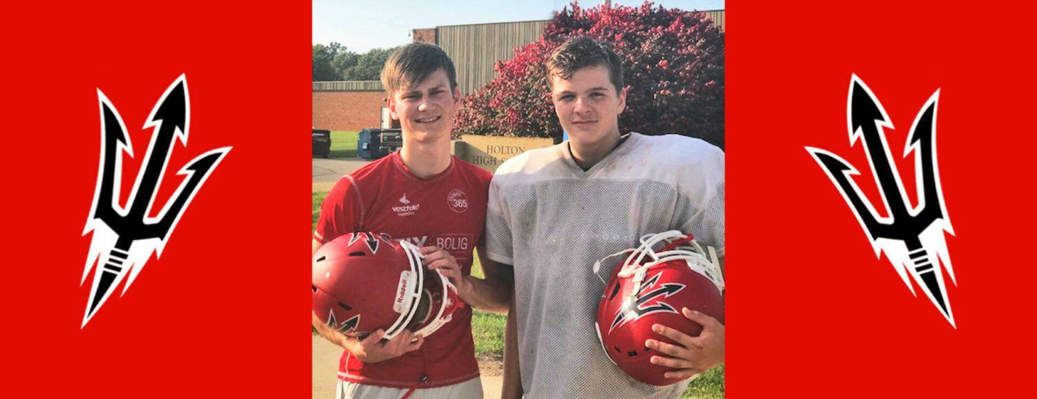 European exchange students become Holton varsity football kickers on first day at school