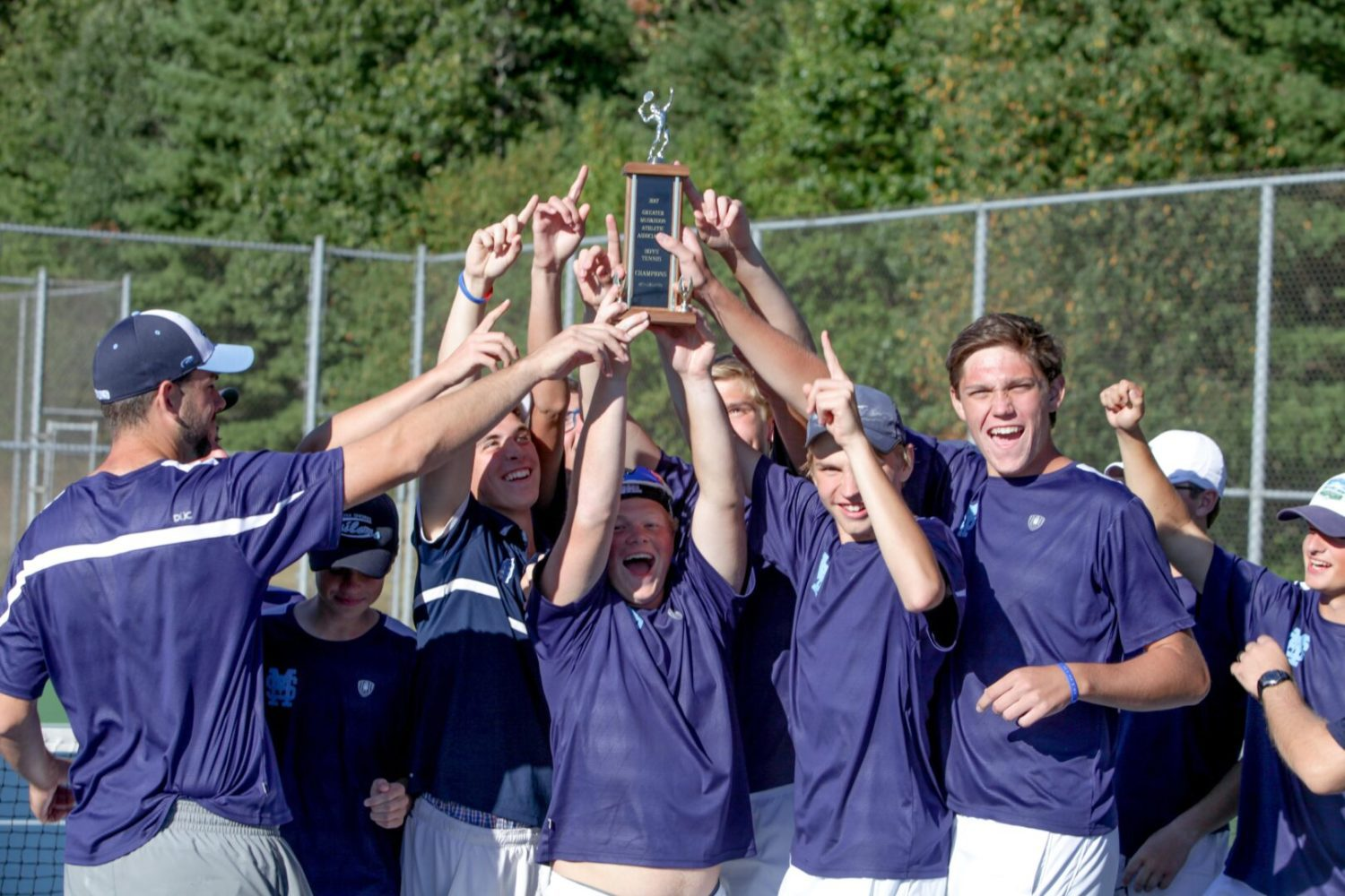 Mona Shores reclaims boys city tennis championship by two points over Whitehall