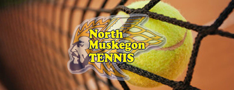 North Muskegon tennis team splits matches in Saturday tri