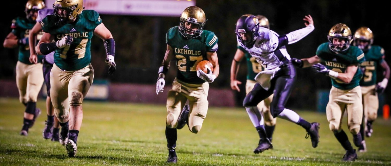 Solid second half propels Muskegon Catholic over Decatur in playoff opener