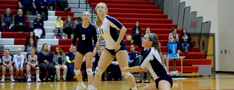 Fruitport volleyball team battles past GR Catholic, advances to Class B regional finals