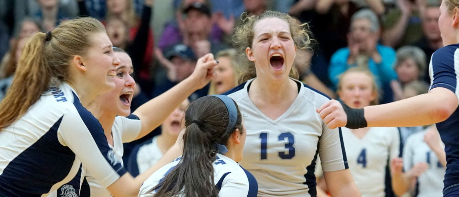 Surging Fruitport volleyball team bounces Cadillac, advances to Class B state semifinals