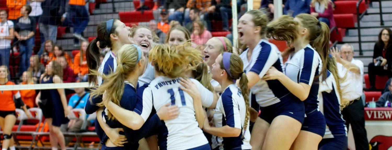 Fruitport volleyball team sweeps Grant, advances to Class B state quarterfinals