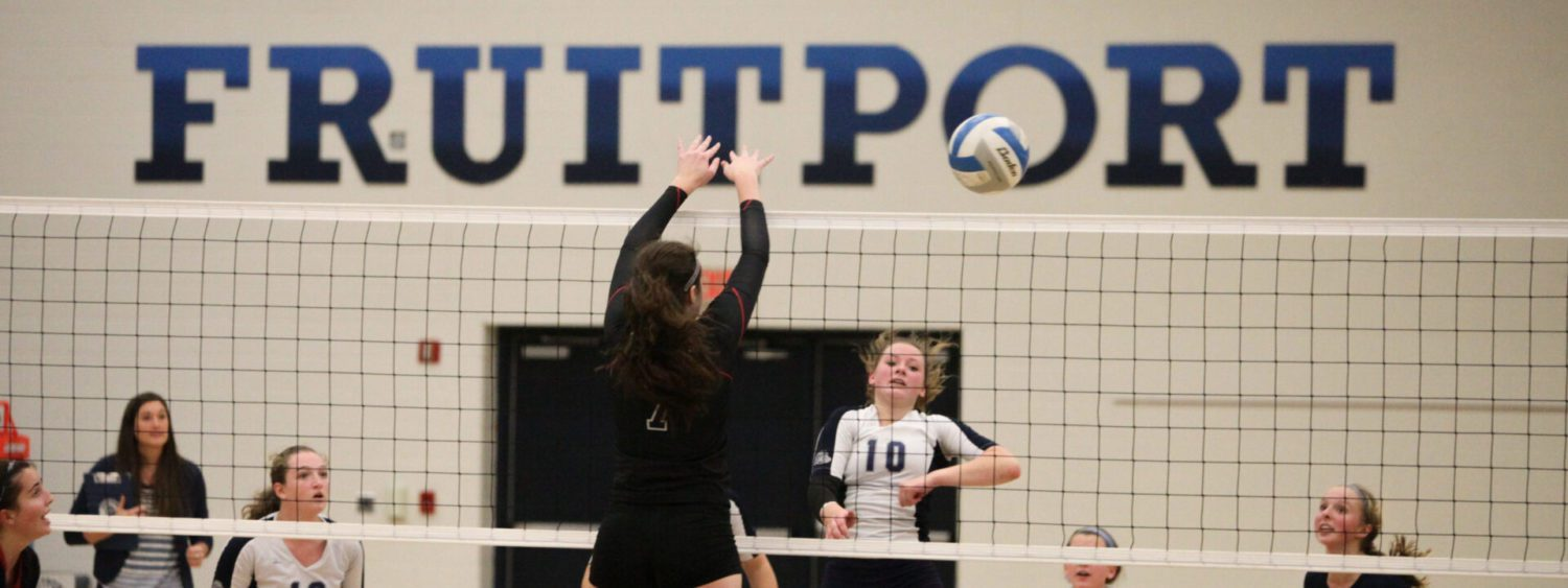Fruitport uses power game to beat Whitehall, claim Class B district volleyball title