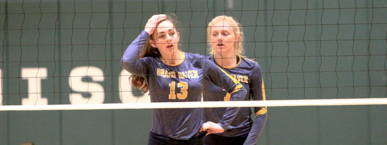 Grand Haven's volleyball season ends with a loss to state-ranked Grand Rapids Christian