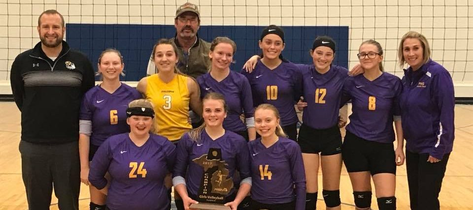 Pentwater volleyball team proves you don't need a lot of players to be great