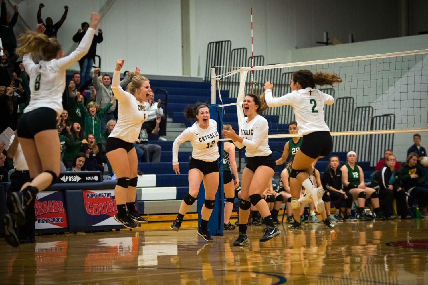 Muskegon Catholic volleyball team rallies for win, advances to regional finals