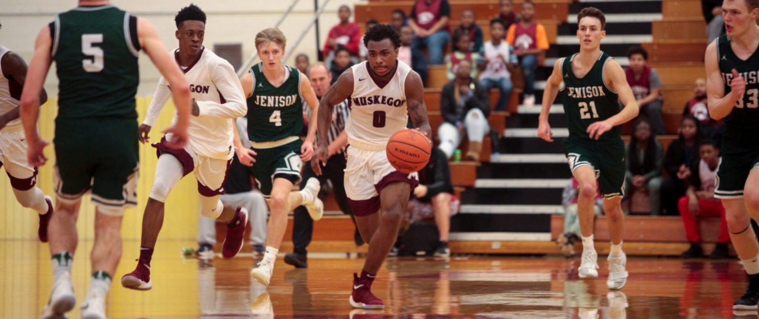 Big Reds boys pull away from Jenison, clinch fifth straight conference championship