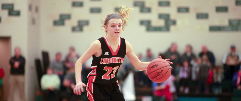 Ludington girls basketball team ends regular season with a big win over WMC