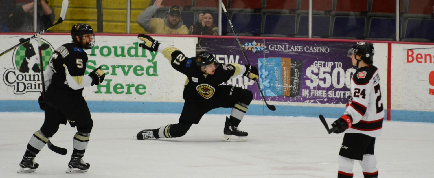 Karki collects 20th win in Lumberjacks 3-1 victory over Chicago Steel